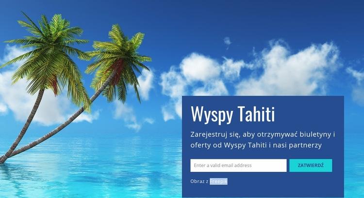 Wyspy Tahiti Szablon witryny sieci Web