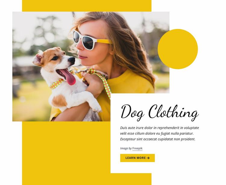 Dog clothing fashion Website Template