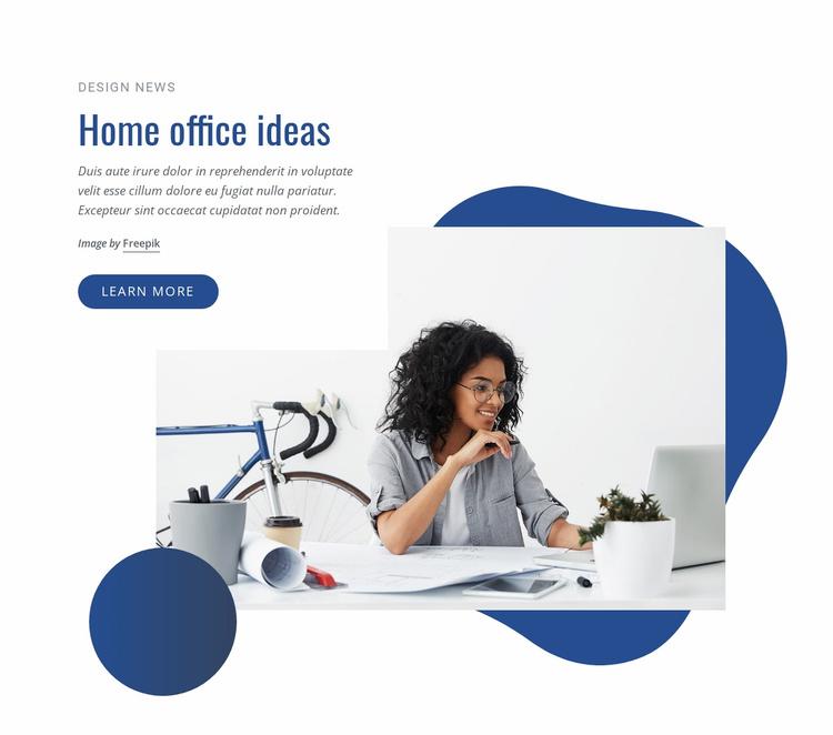 Home office ideas Website Template