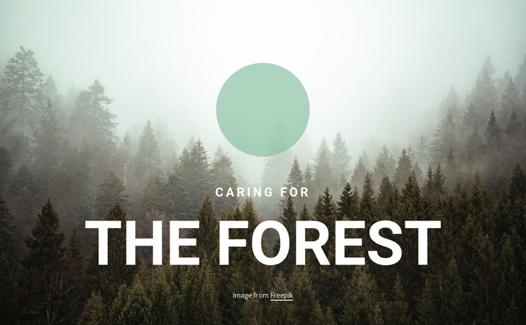 Caring for the forest Website Mockup