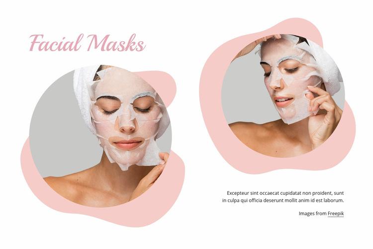 Fasial masks Web Page Design