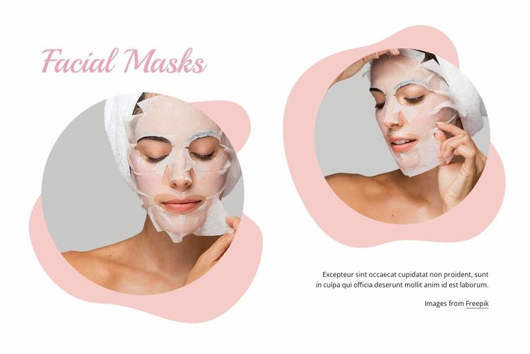 Fasial masks Website Mockup