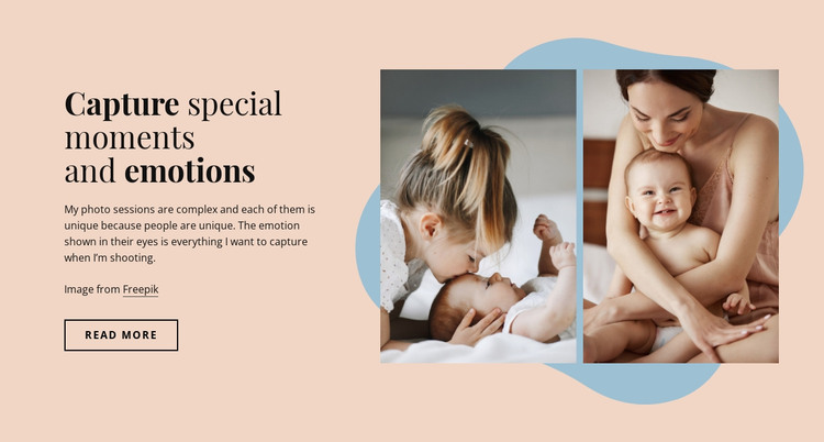 Capture special moments HTML Template