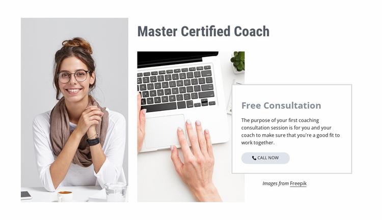 Master Certified Coach Website Template