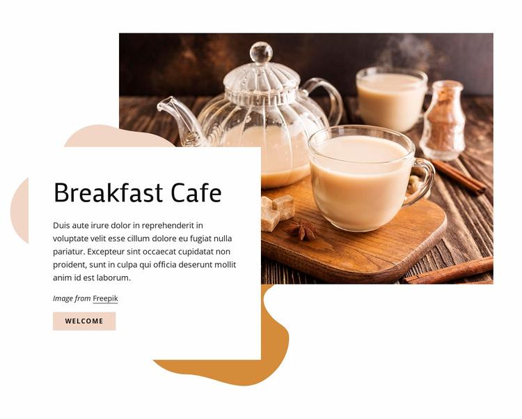 Breakfast cafe Website Template