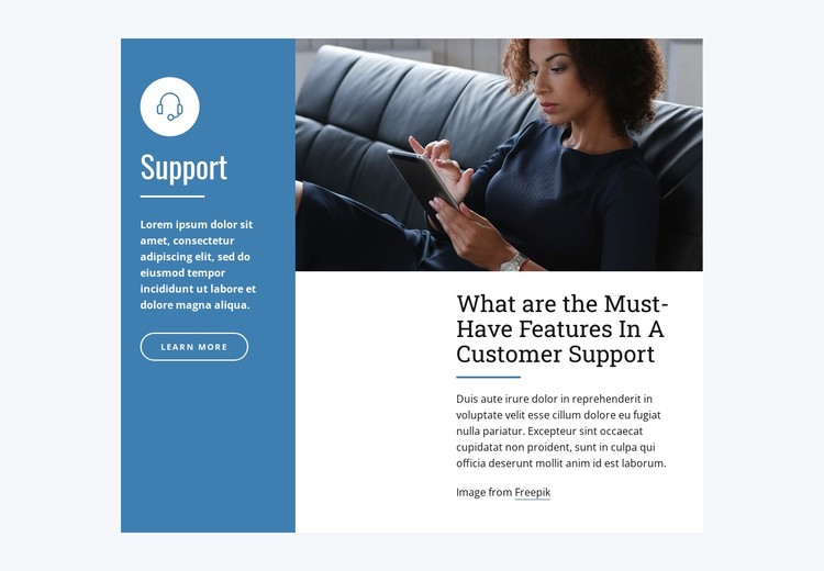 Live Chat Support CSS Template