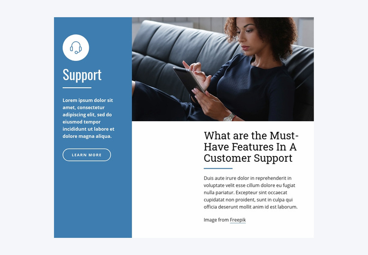 Live Chat Support Web Page Design