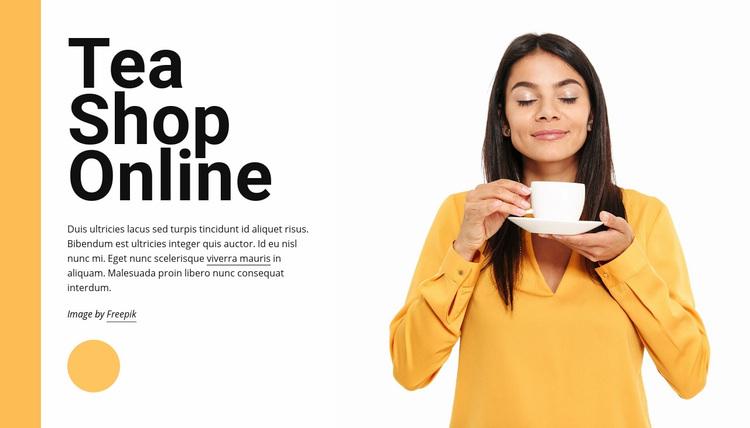 Tea shop online Web Page Designer