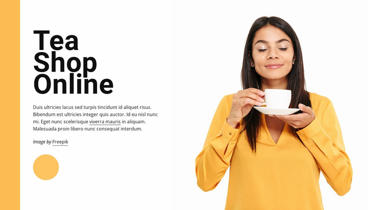 Tea shop online Website Mockup