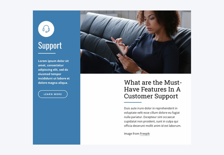 Live Chat Support Landing Page