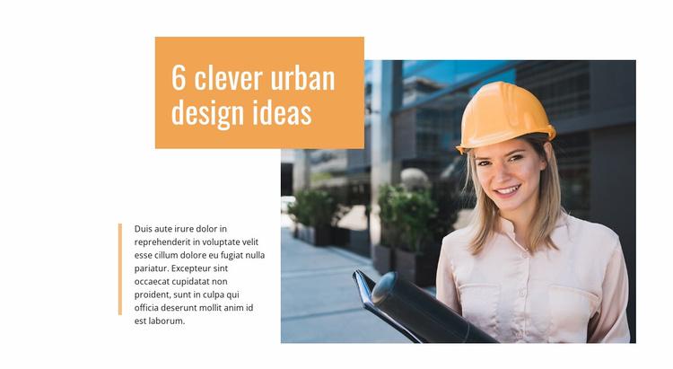 Urban design ideas Website Template