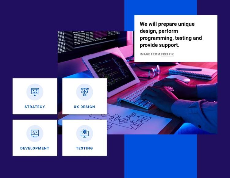 Perform programming HTML Template