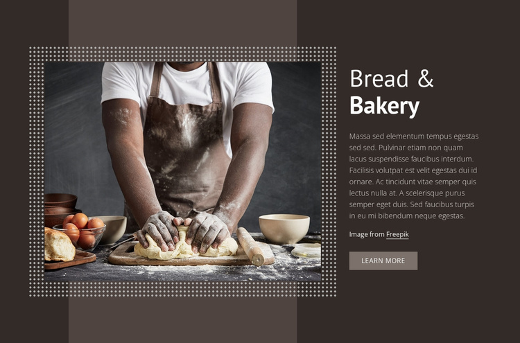 Bread & Bakery Joomla Template