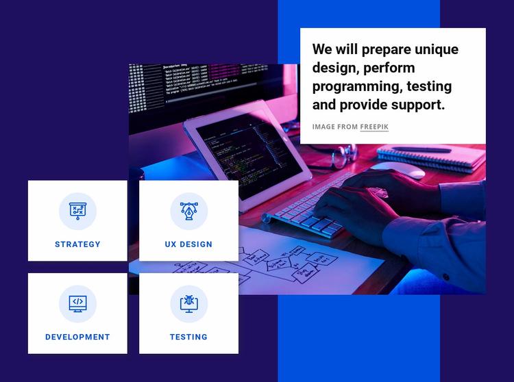 Perform programming Web Page Design