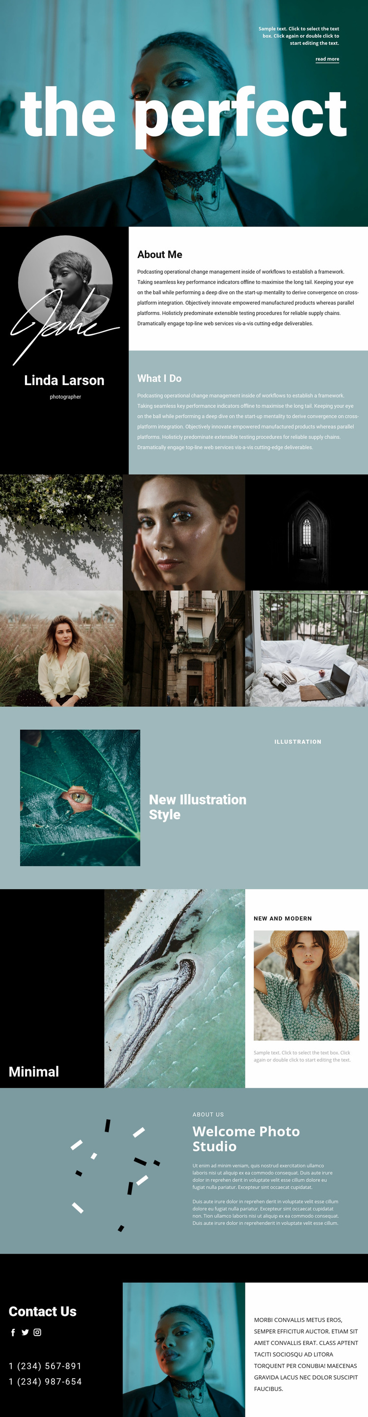 Fashion photographer resume  Web Page Design