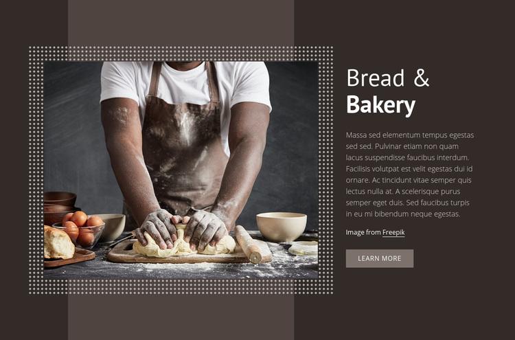 Bread & Bakery Web Page Designer