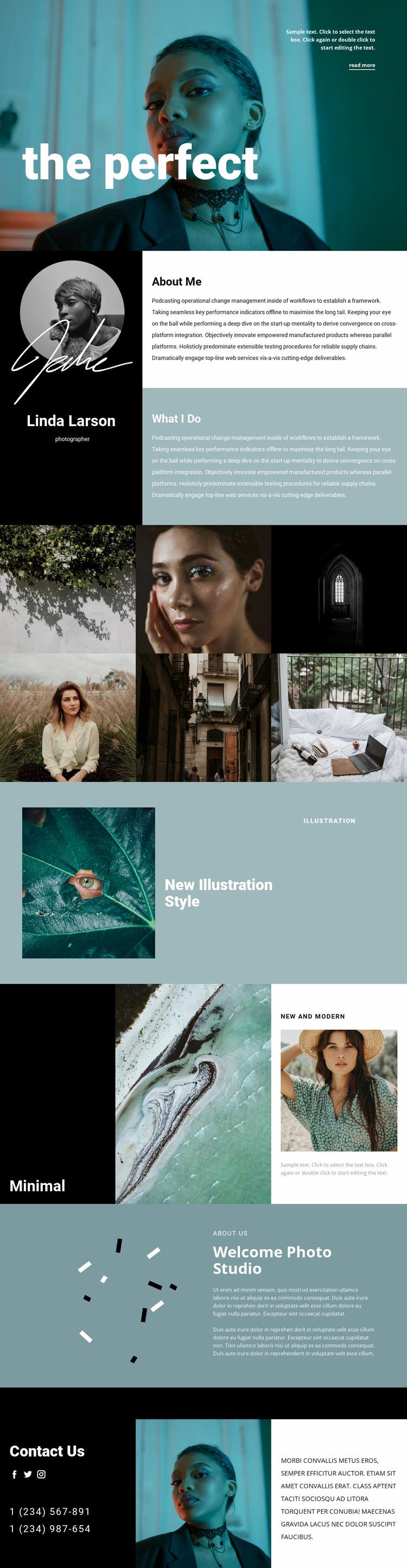 Fashion photographer resume  Website Design