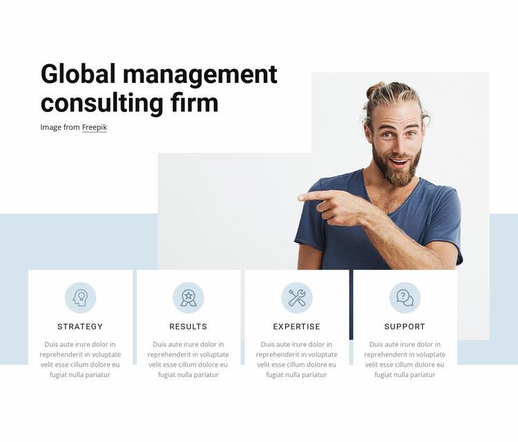 Global management Website Mockup