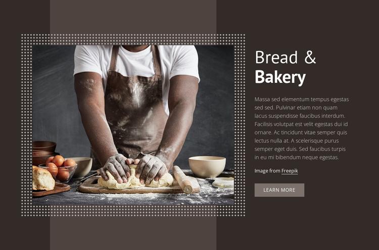 Bread & Bakery Website Template