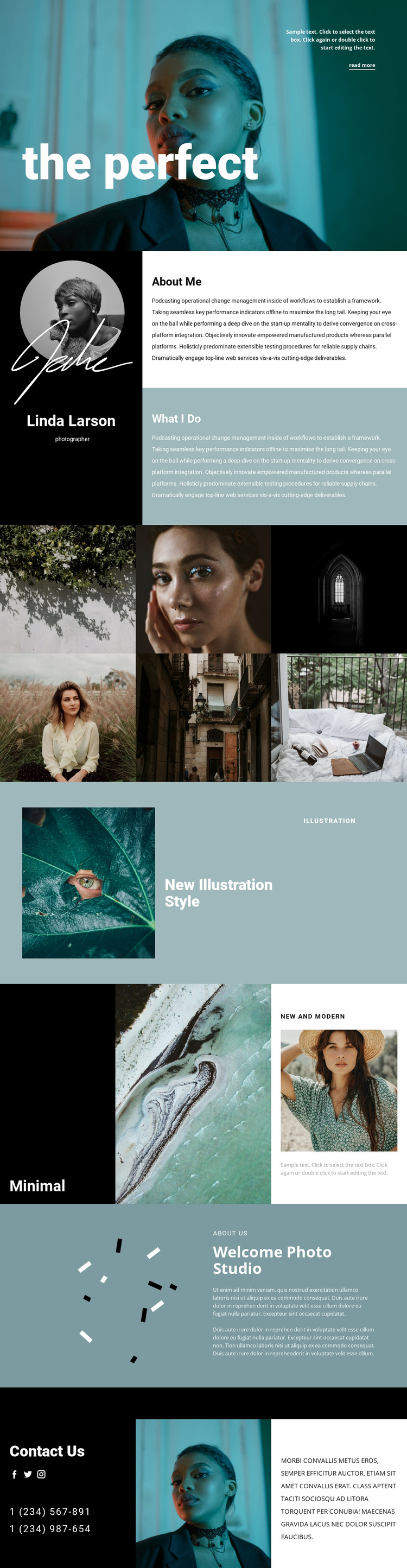Fashion photographer resume  Website Template