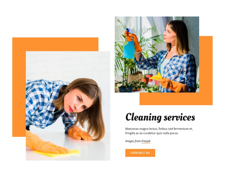 Cleaning services Joomla Page Builder