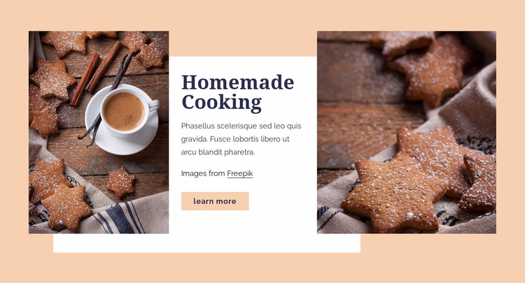 Homemade cooking Web Page Design