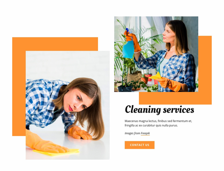 Cleaning services Web Page Designer