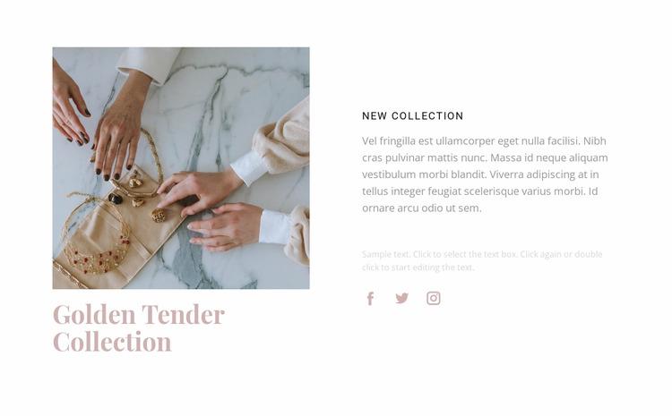 Golden tender collection Html Website Builder