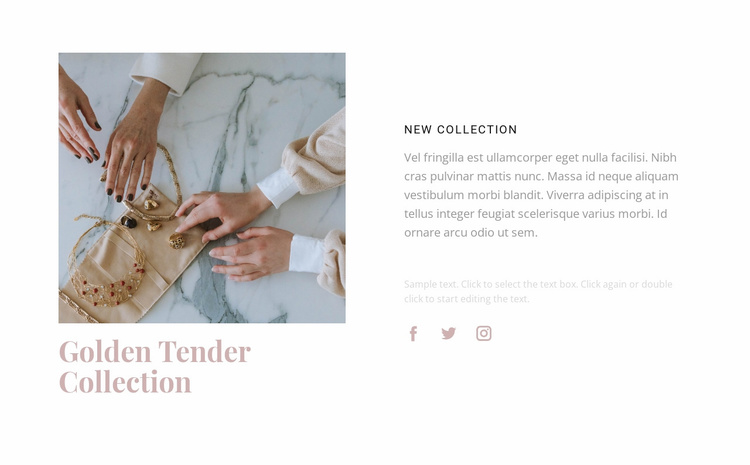 Golden tender collection Website Template