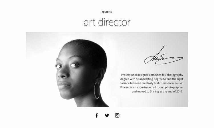 Design leader resume Website Template