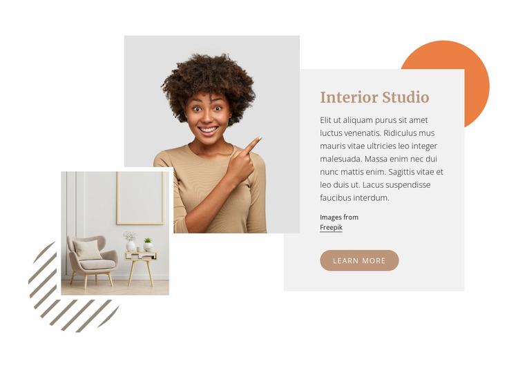 Specialising in luxury residential interiors WordPress Website Builder