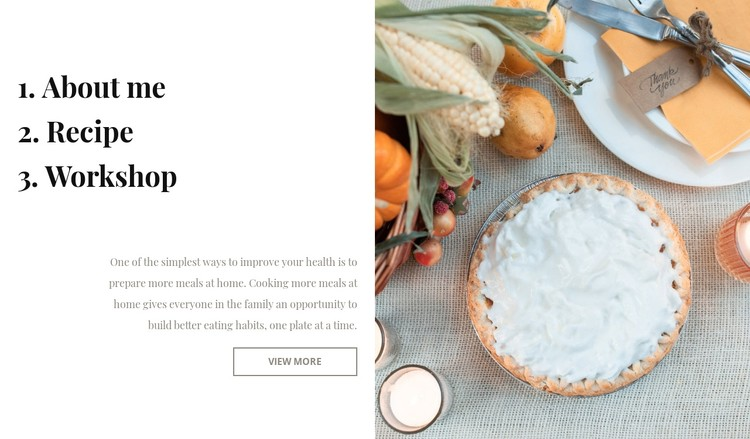 Cooking blog CSS Template