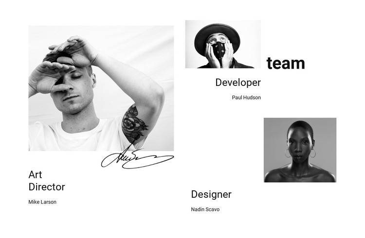 Our company team HTML Template