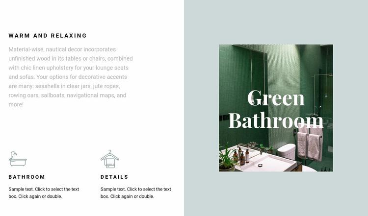 Green bathroom Web Page Designer