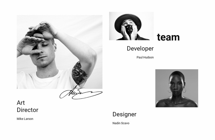 Our company team Website Template