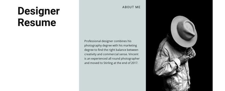 Art creator resume Woocommerce Theme