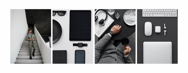 Business style gallery Website Mockup