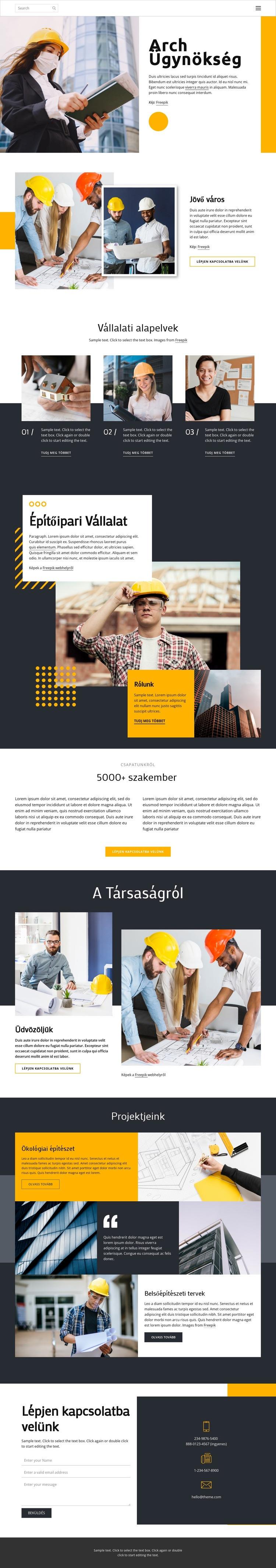 Díjas építészek Weboldal sablon