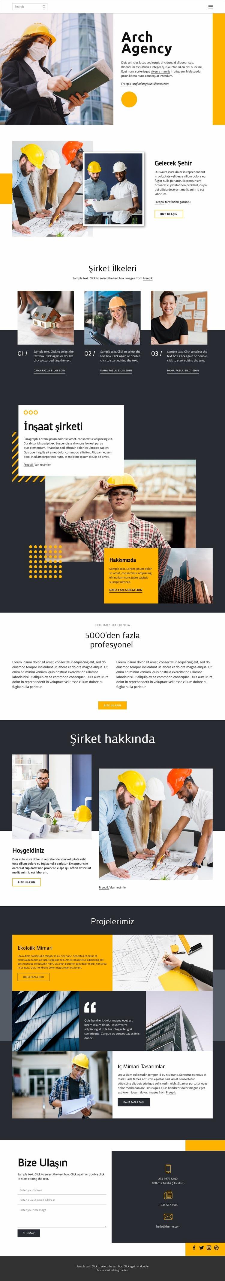 Ödüllü mimarlar Web Sitesi Şablonu