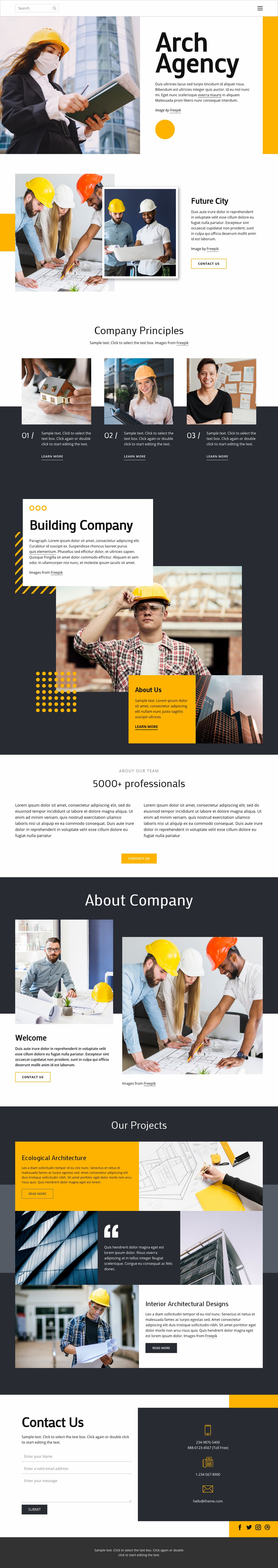 Award winning architects Web Page Designer