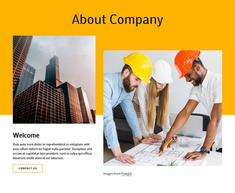 Architecture & interior design Website Template