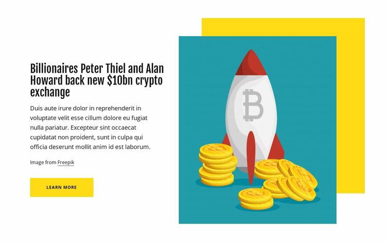 Bitcoin, ethereum, crypto news Website Mockup