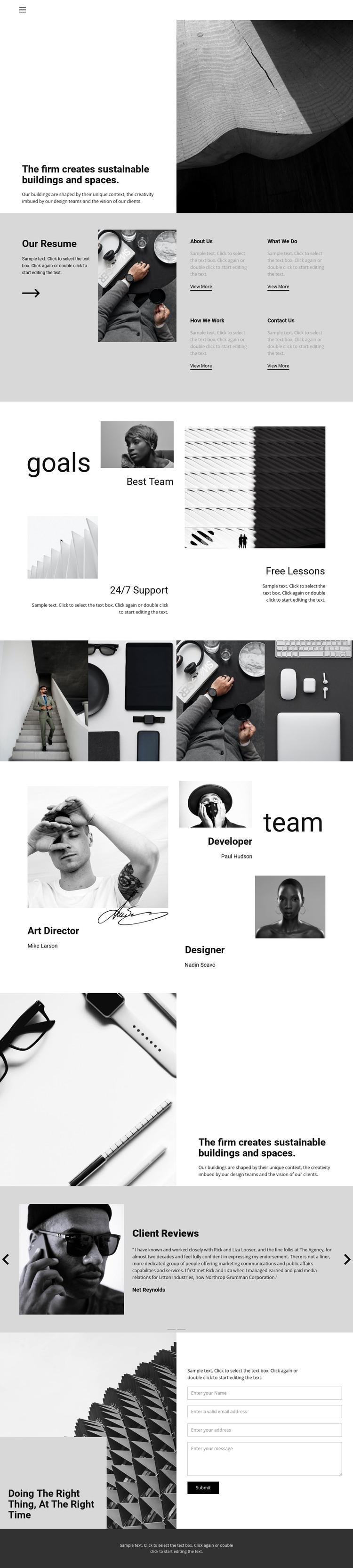 Hard work good result Homepage Design