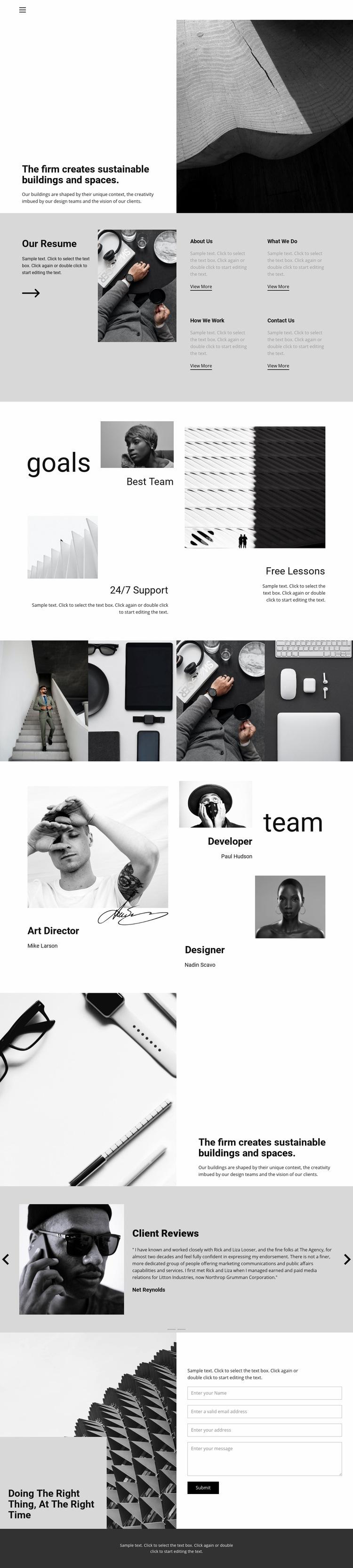 Hard work good result Web Page Design