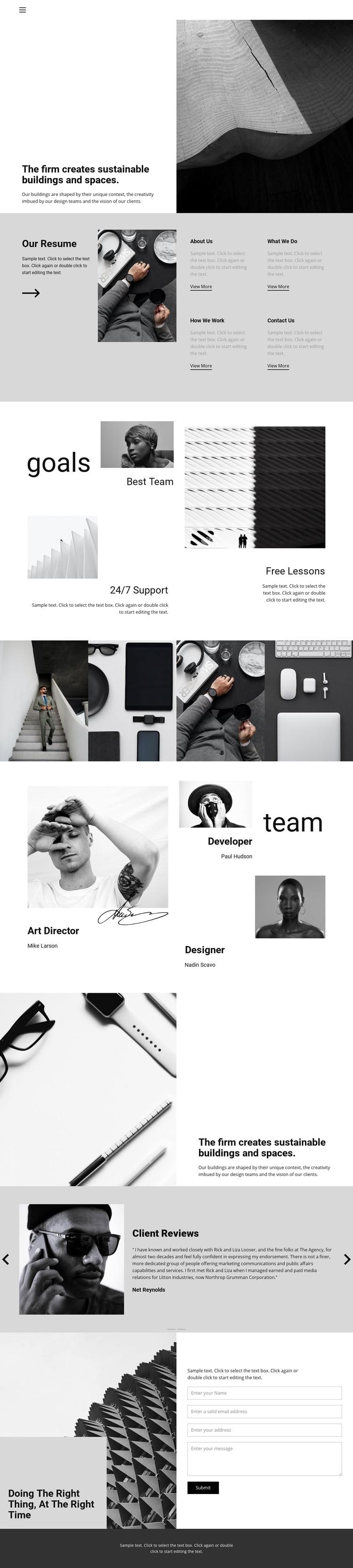 Hard work good result Website Creator
