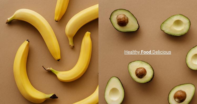Fruits and vegetables Web Design