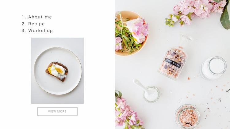 Gourmet cooking Website Builder