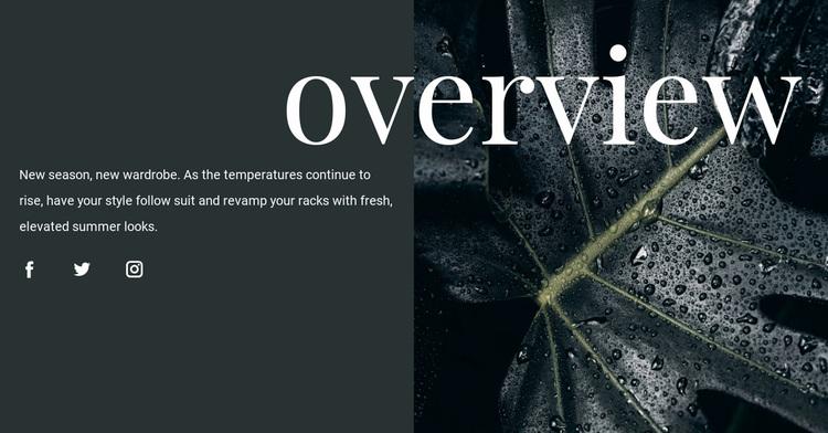 Design overview Website Design