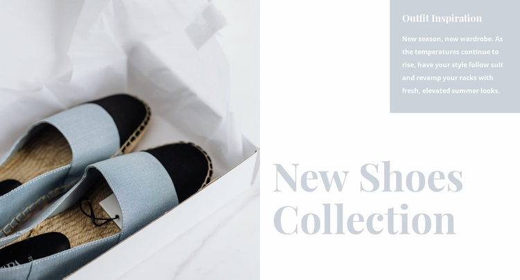 Spring shoes collection Website Template