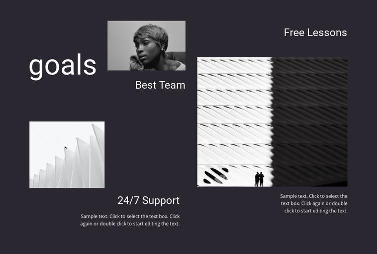 Business goals Website Template